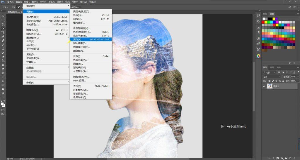 图片[10]-【PS记录】简单制作照片双重曝光效果PS教程-轻刻年轮