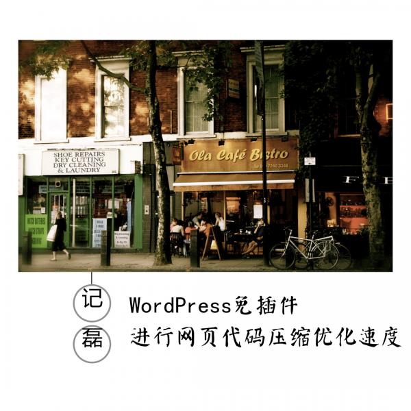 WordPress免插件进行网页代码压缩优化网站速度